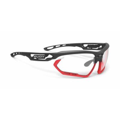OCHELARI FOTONYK BLACK-RED FLUO BUMPERS/IMPACTX2 PHOTOCHROMIC BLACK