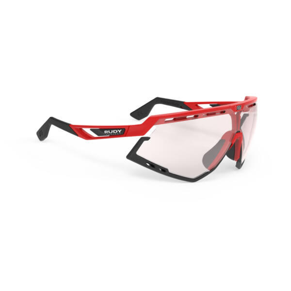 SZEMÜVEG DEFENDER FIRE RED-BLACK BUMPERS/IMPACTX2 PHOTOCHROMIC LASER RED