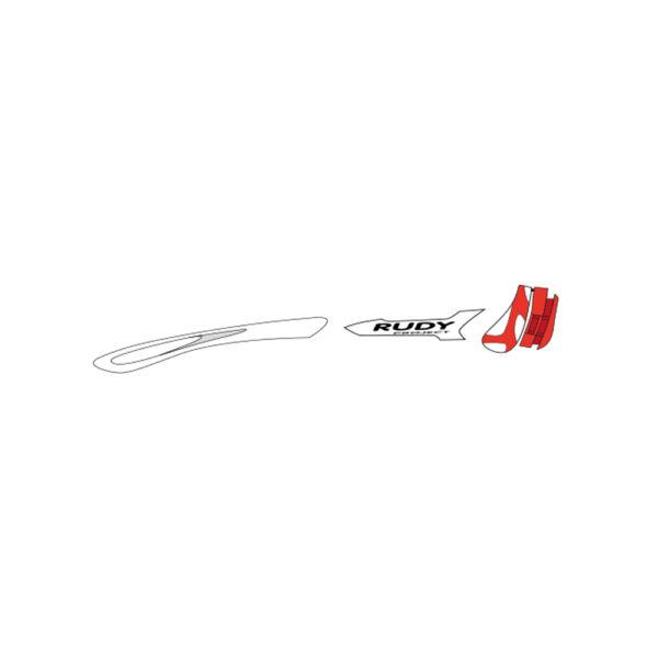 CUSTOM KIT TRALYX WHITE/RED FLUO